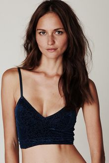 Free People Rose Burnout Velvet Crop Bralette - Lyst