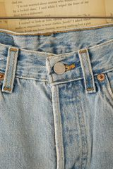 Free People Vintage Levis Denim Cutoffs in Blue (denim) - Lyst