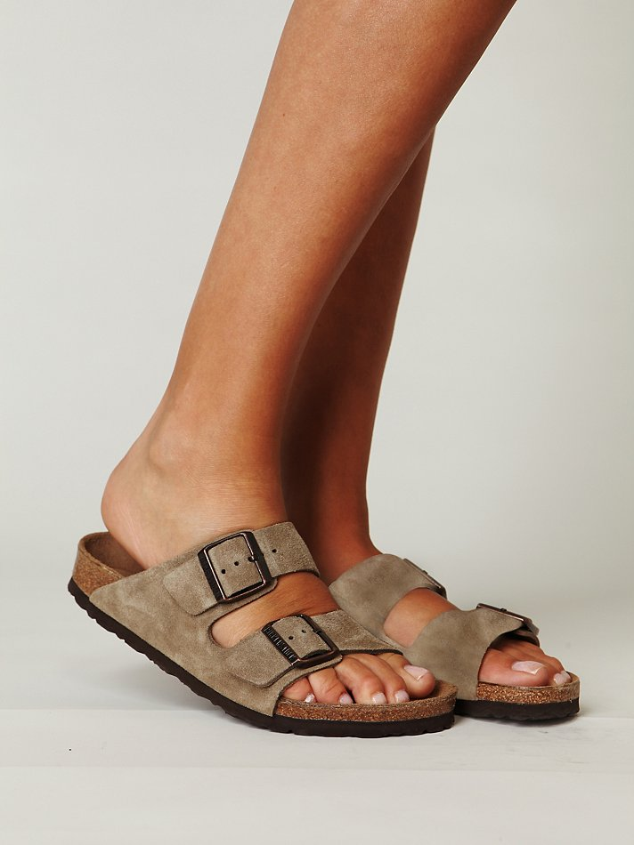 taupe suede arizona birkenstocks