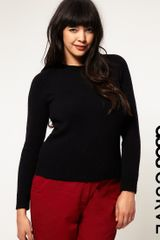 ASOS Collection Asos Curve Detachable Fur Collar Jumper - Lyst