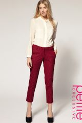 ASOS Collection Asos Petite Exclusive Lace Skinny Trousers - Lyst