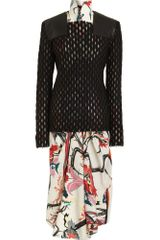 Balenciaga Open Weave Sweater in Black (noir) - Lyst