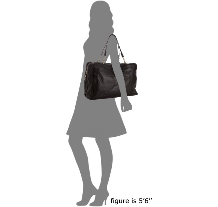 Chlo¨¦ Black Leather Elsie Tote in Black | Lyst