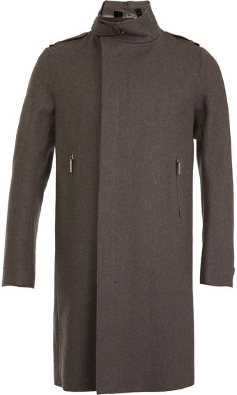 Costume National Funnel Neck Overcoat - Lyst