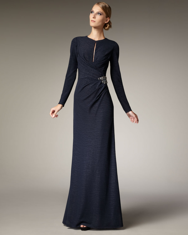 David Meister Embellished Jersey Gown – fashion dresses