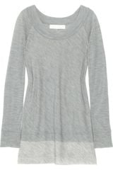 Donna Karan New York Wool-blend Stretch-jersey Top - Lyst