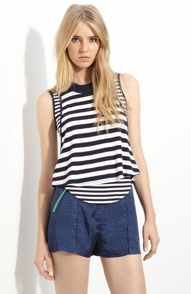 Elizabeth And James Nima Striped Tank in Blue (navy/ ivory) - Lyst