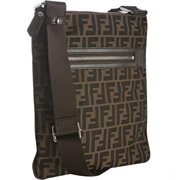 40db15146f7 ... coupon lyst fendi tobacco zucca canvas messenger bag in brown for men  c3efd 118f1