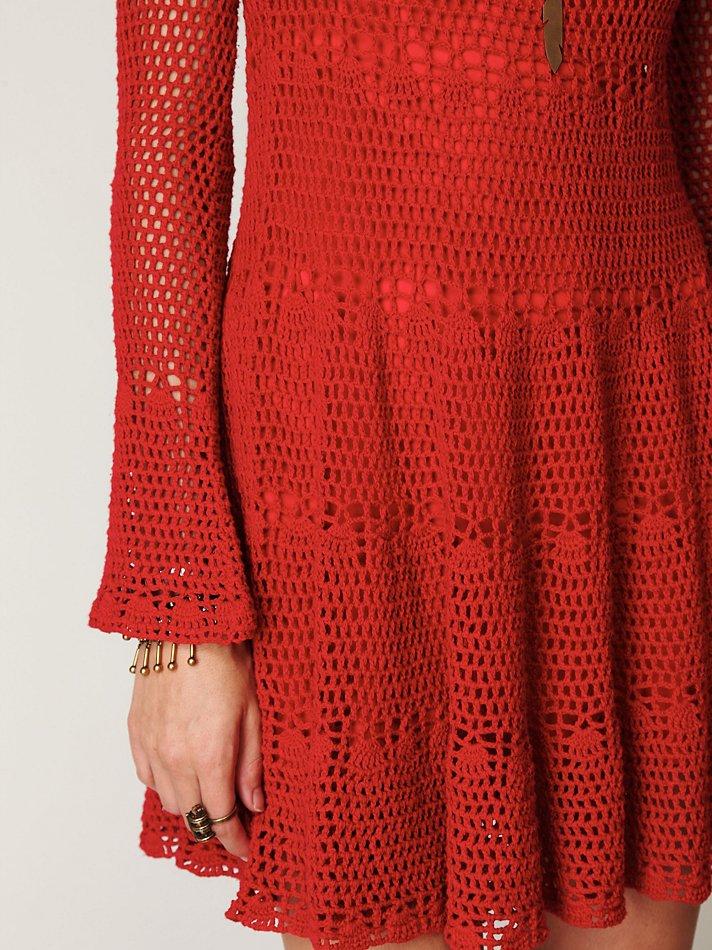 Lyst Free People Belle Sweater Knit Dress In Red