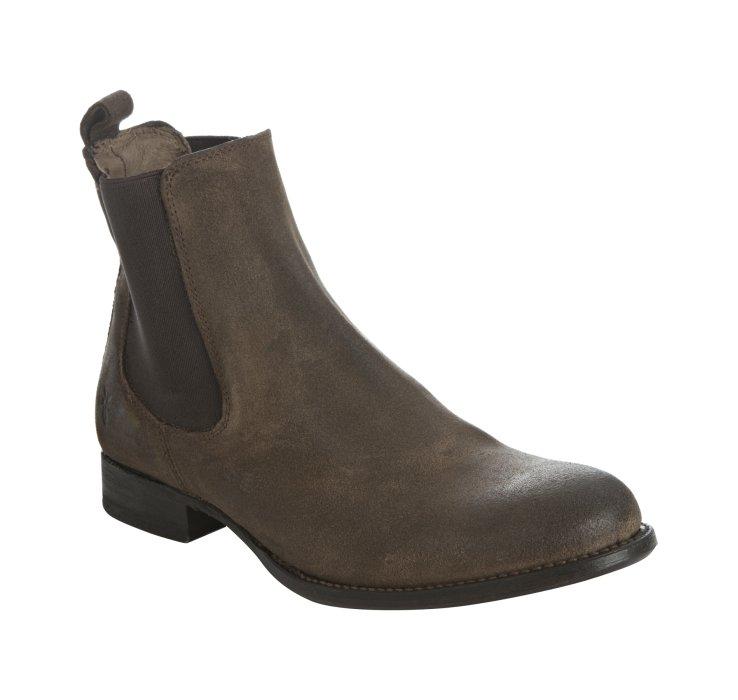 frye brown suede erin chelsea slip on ankle boots in brown