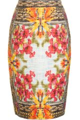 Givenchy Textured Pencil Skirt - Lyst