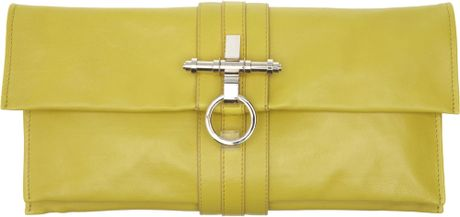 Givenchy Fold Over Clutch in Yellow - Lyst
