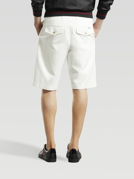 Gucci Long Bermuda Shorts In White For Men Lyst