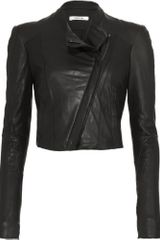 Helmut Lang Cropped Jacket -black - Lyst