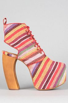Jeffrey Campbell The Lana Shoe in Red Multi Stripe - Lyst