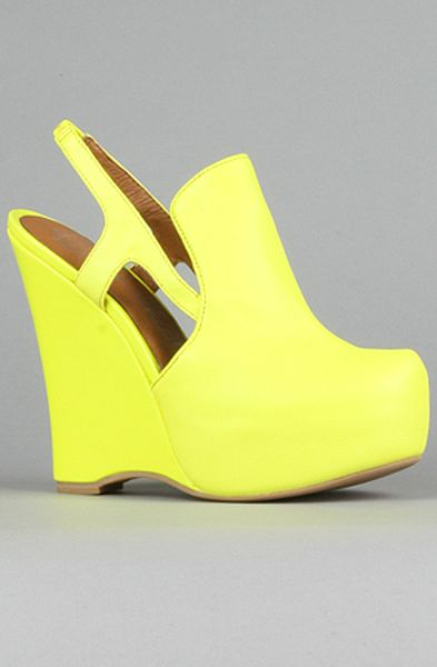 Jeffrey Campbell The Darian Shoe in Neon Yellow in Yellow - Lyst