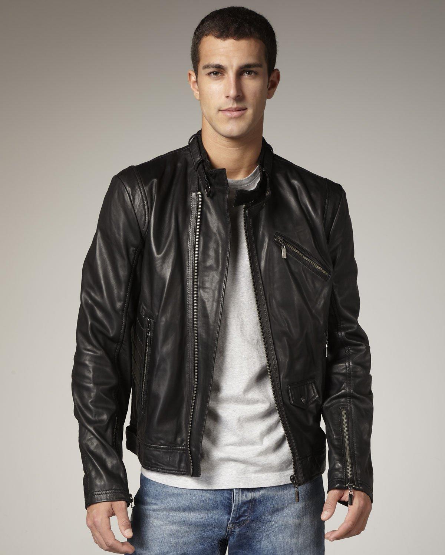 Lyst Just Cavalli Leather Biker Jacket In Black For Men 37cff4586