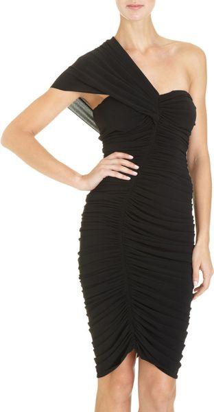 Lanvin Ruched Dress in Black