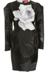 Lanvin Peplum Dress - Lyst
