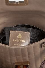 Lanvin Grey Quilted Calfskin Leather Mini Pop Bow Detail Shoulder Bag in Beige (grey) - Lyst