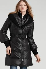 Mackage Ace Long Down Coat with Knit Collar - Lyst
