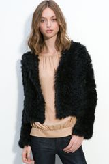 Marc By Marc Jacobs Nikki Genuine Rabbit Fur Hooded Jacket - Lyst