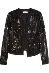 Michael by Michael Kors Two-tone Sequin-embellished Jacket