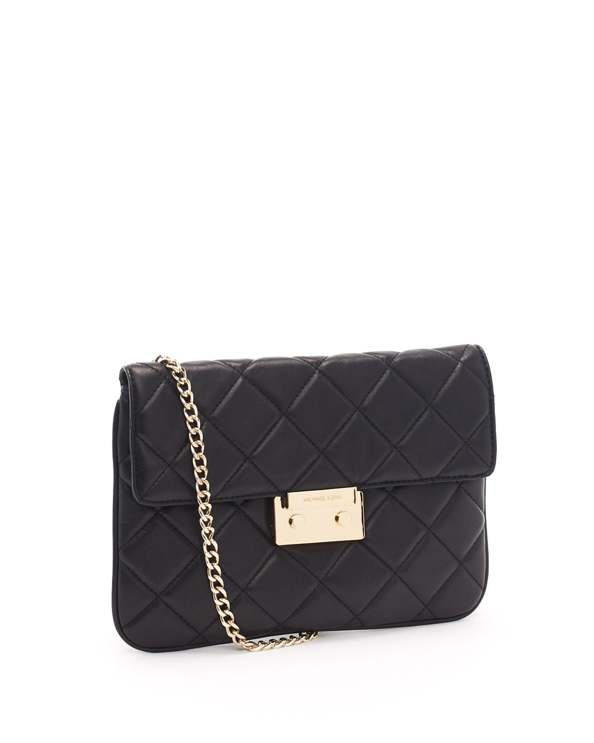 Michael Kors Sloan Quilted Clutch, Black