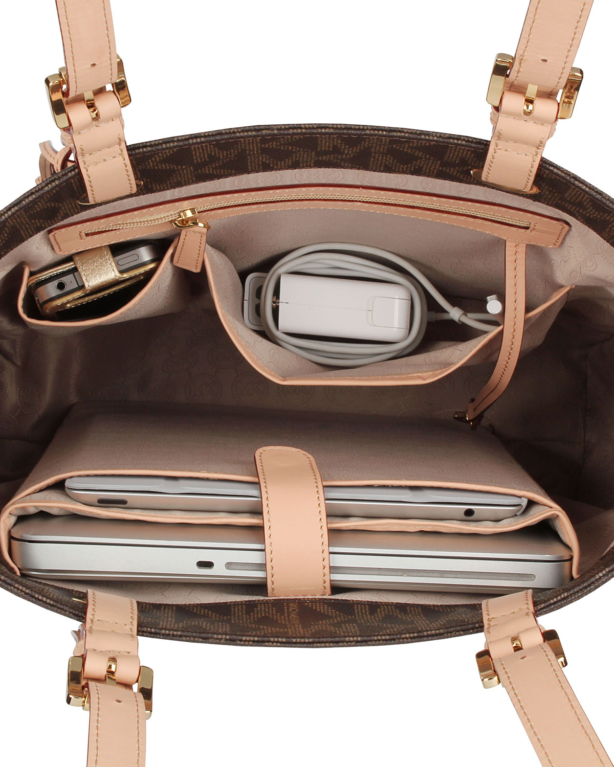 e448f9c568 ... coupon code for lyst michael kors tote for macbook small in brown 66569  be299