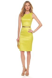 Michael Kors Metallic Brocade Sheath Dress - Lyst