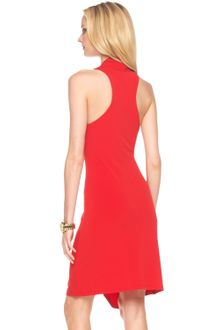Michael Kors Halter Drape-front Dress - Lyst