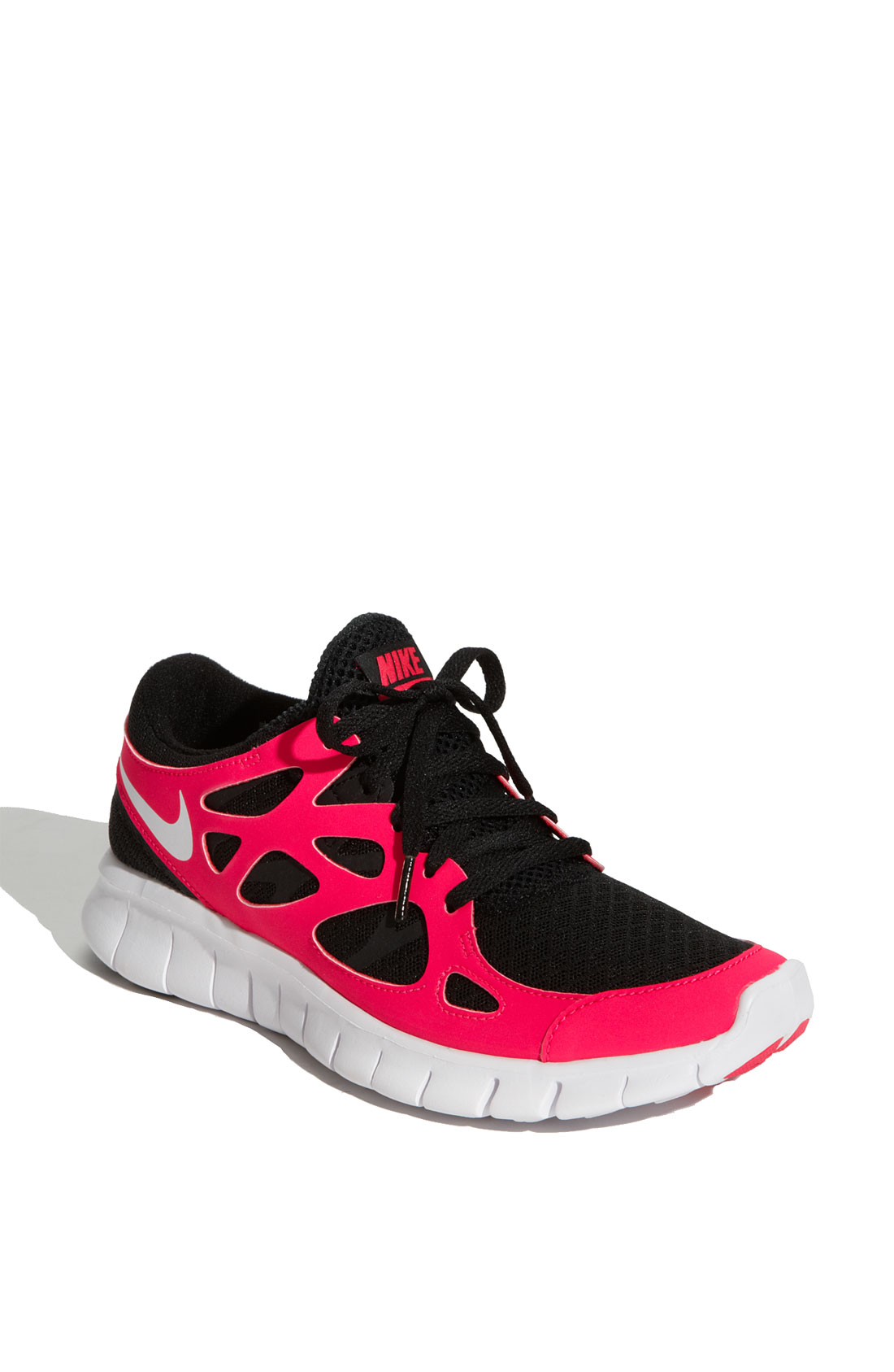 nike free run 2 running shoe in pink black pink yellow. Black Bedroom Furniture Sets. Home Design Ideas
