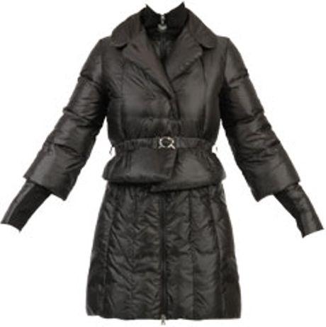 patrizia pepe down jacket in black lyst. Black Bedroom Furniture Sets. Home Design Ideas