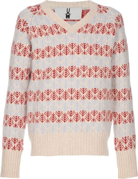 Peter Jensen Fair Isle Knit Jumper in Beige for Men (red) - Lyst