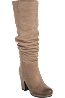 Prada Sport Light Brown Leather Slouched Lug Boots - Lyst