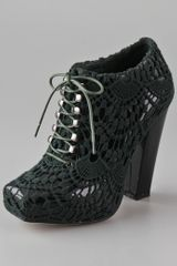Rodarte x Opening Ceremony Crochet Lace Up Booties - Lyst
