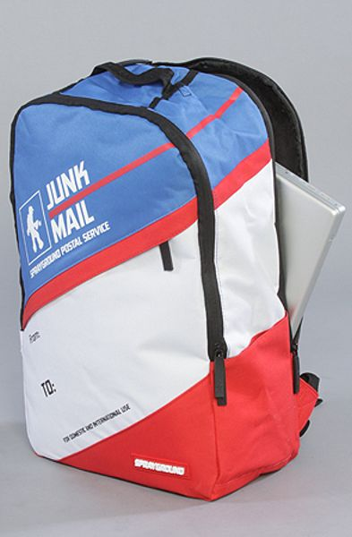 Sprayground The Junk Mail Backpack In Blue Multi Lyst