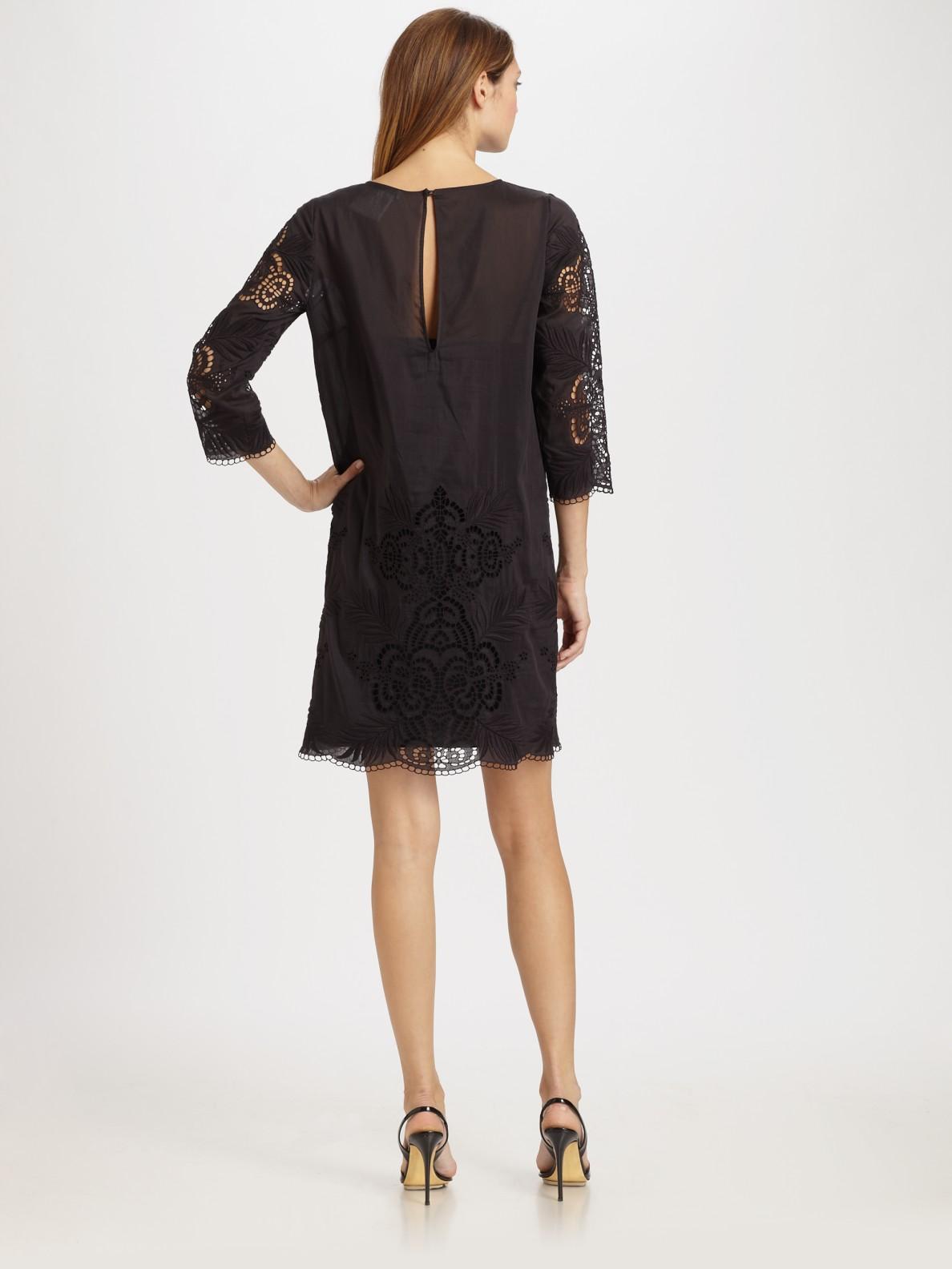 Black Eyelet Dress