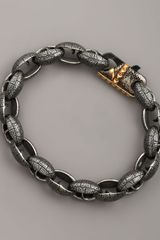 Stephen Webster Matte Steel Link Bracelet - Lyst