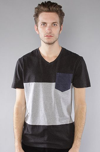 The Scifen Company The Pathway V-neck Tee in Charcoal & Heather - Lyst