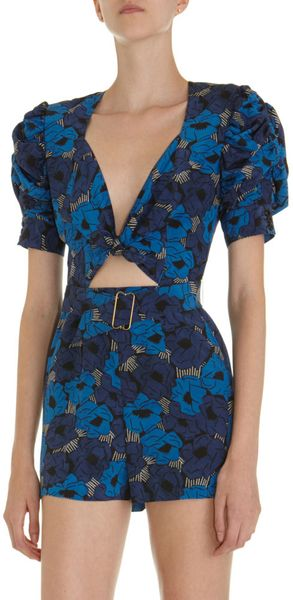 Yves Saint Laurent Cut Away Poppy Romper - Lyst