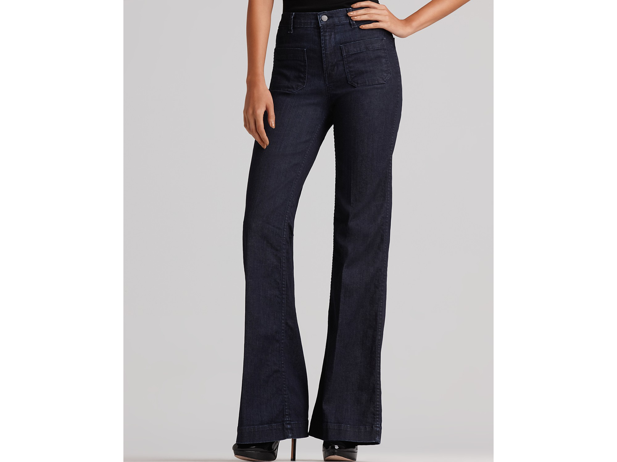Ash J Brand Bette High Rise Wide Leg Jeans in Luna Wash in Blue | Lyst