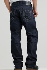 Ash True Religion Ricky Straight Leg Jean in Nashville Wash - Lyst