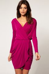 ASOS Collection Asos Drape Dress with Cross Front - Lyst
