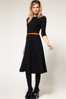 ASOS Collection Asos Midi Dress with Belt - Lyst