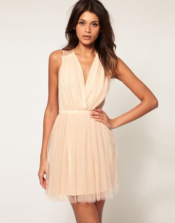 ASOS Collection Asos Party Dress in Mesh - Lyst