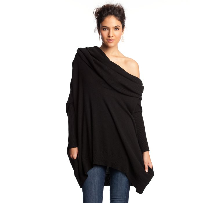 Autumn cashmere Black Cashmere Oversized Cowl Neck Sweater in ...