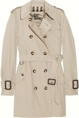 Burberry Marystow Gabardine Trench Coat - Lyst