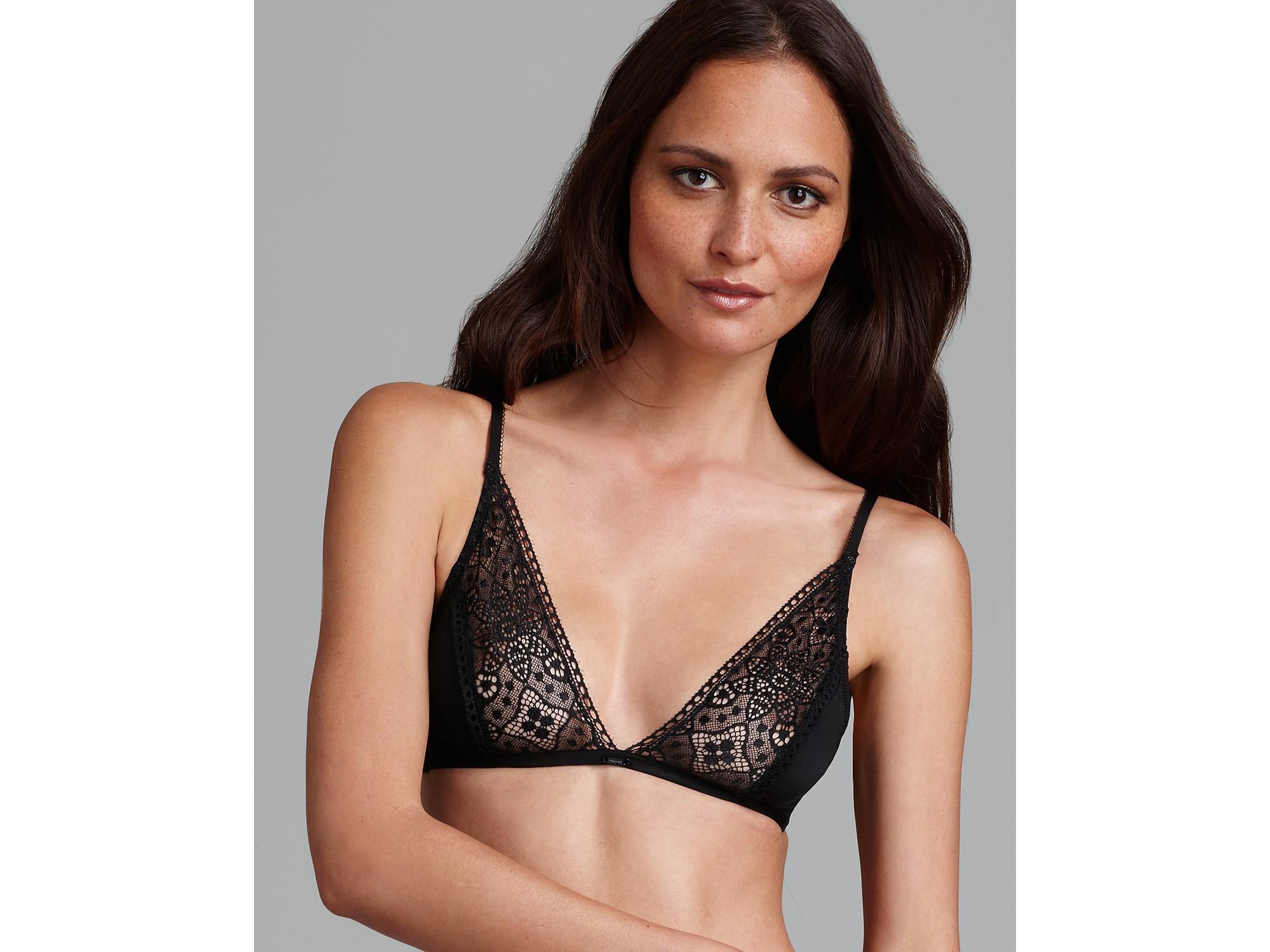 252b5270e2 Lyst - Calvin Klein Underwear Ck Black Triangle Bra in Black
