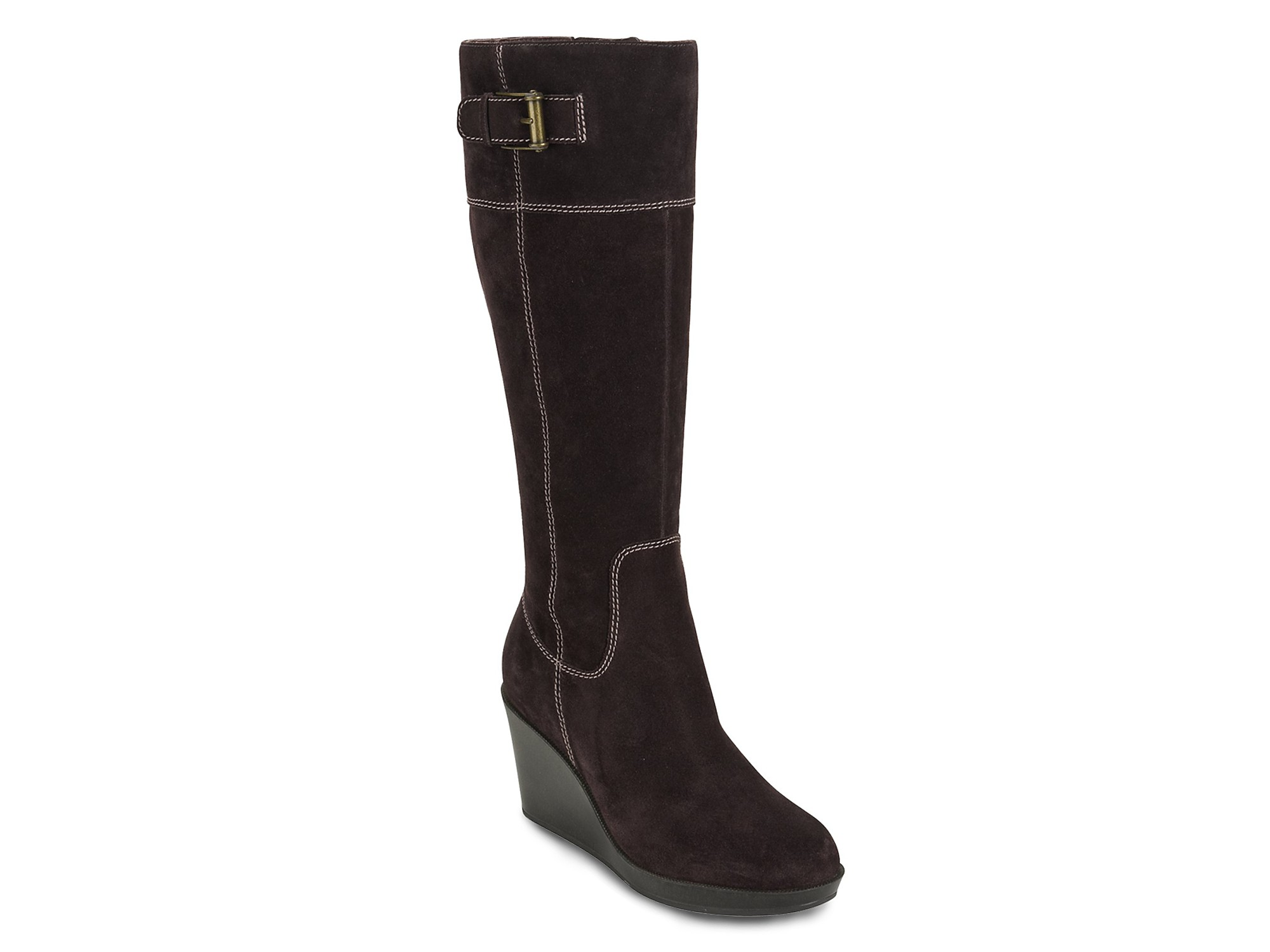 cole haan air tali wedge boots in brown